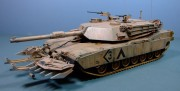 M1A1 Abrams with mine plough, 1:35